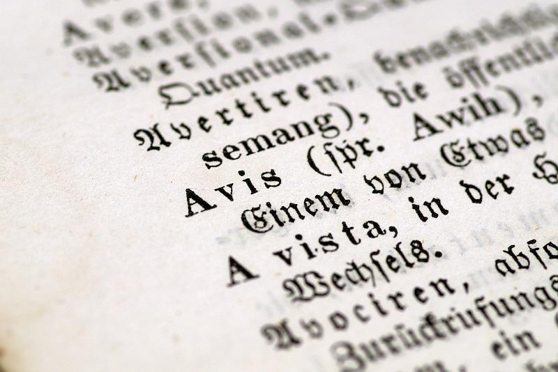 Německý text ve staré kronice