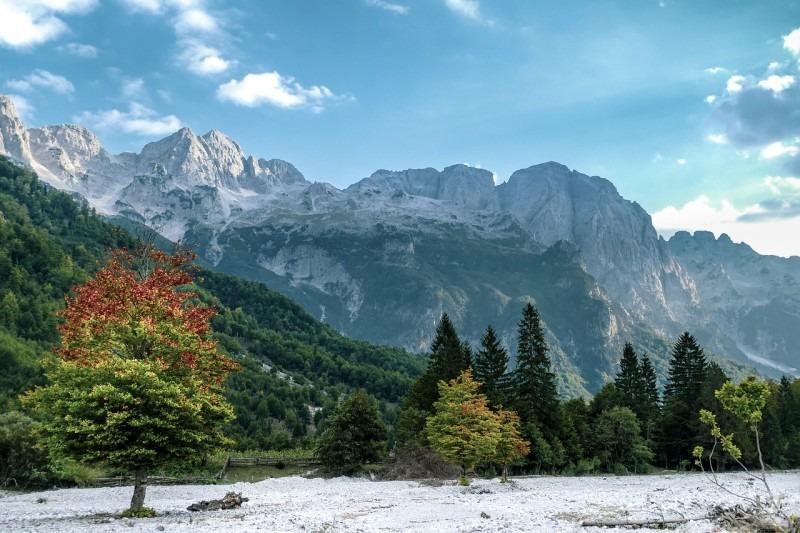 Pohoří Valbona v Albánii.