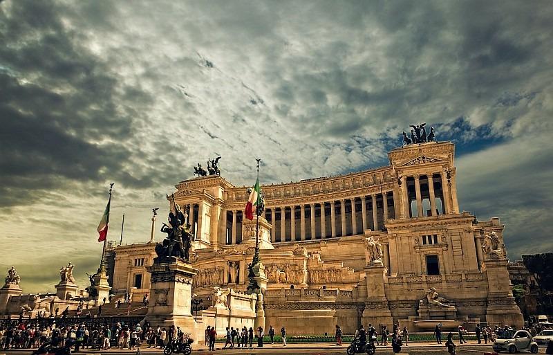 Památník Monumento Vittorio Emanuele v Římě.