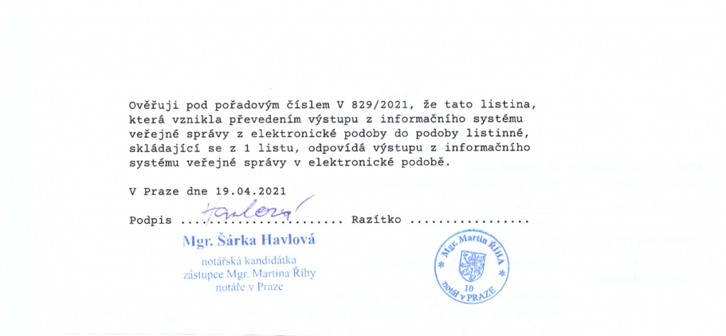 Vypis OR notary